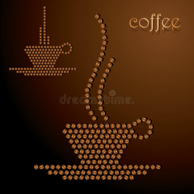 Download Cup of coffee stock vector. Image of brazilian, plate - 27000252