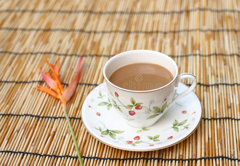 Download Cup of coffee stock image. Image of flower, garden, beautiful - 27566637