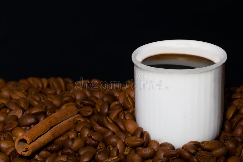 Download Cup of coffee stock image. Image of bean, image, close - 28565977
