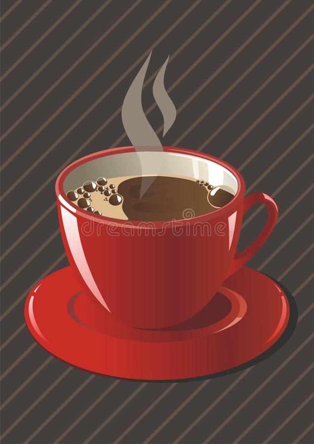 Download A cup of coffee stock vector. Image of color, black, background - 6840103