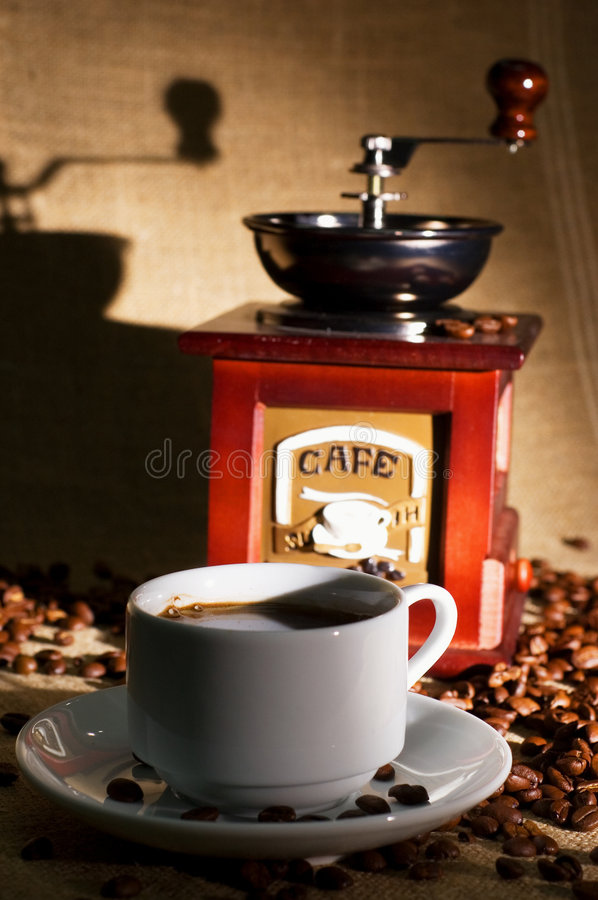 Download Cup of coffee stock photo. Image of dark, coffee, grinder - 7823120