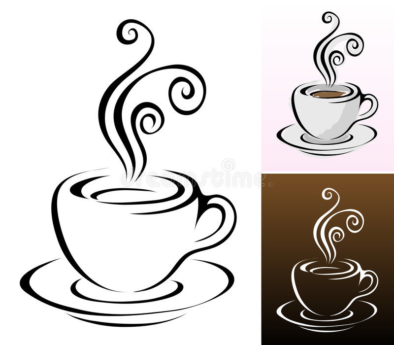 Cup of coffee stock illustration