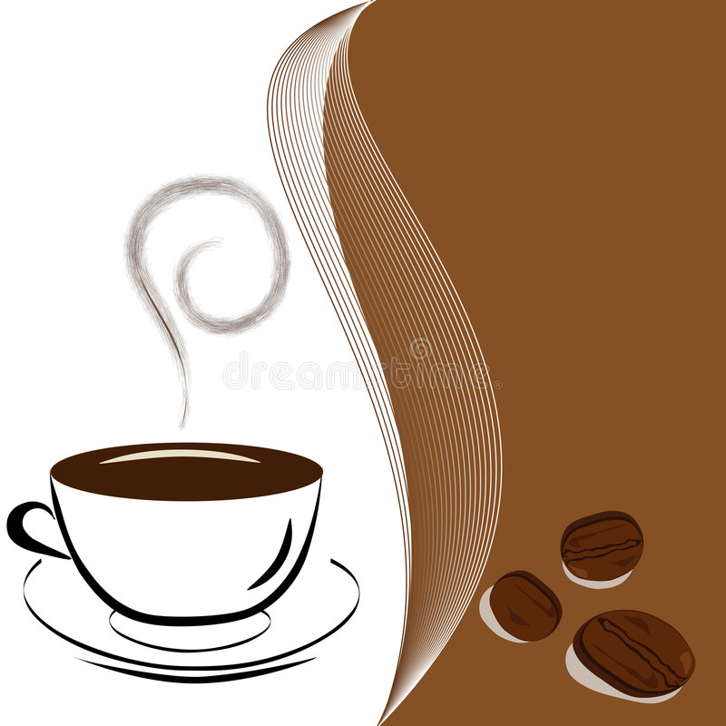 Download Cup of coffee stock vector. Image of abstract, icon, black - 8402923