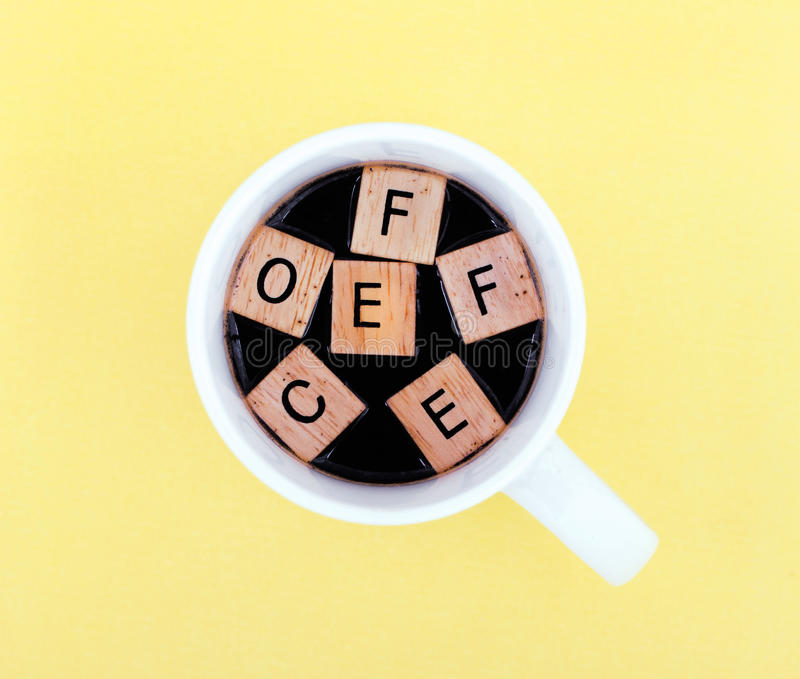 Download Cup Of Coffee With Alphabet Stock Photo - Image: 25855060