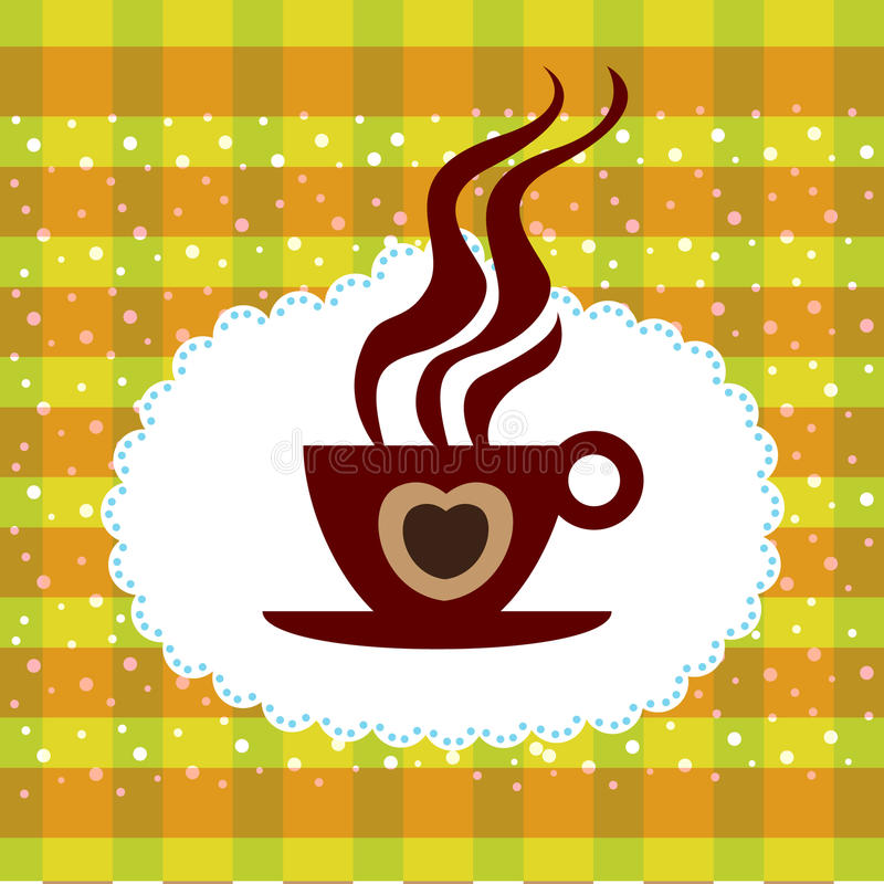 Cup of coffee background royalty free illustration