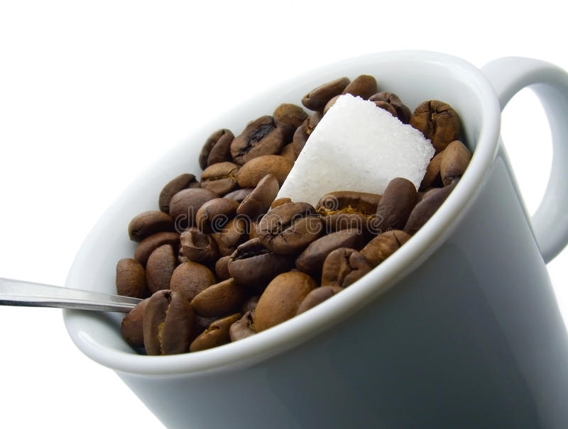 Download Cup of coffee beans stock photo. Image of coffee, seed - 12957704