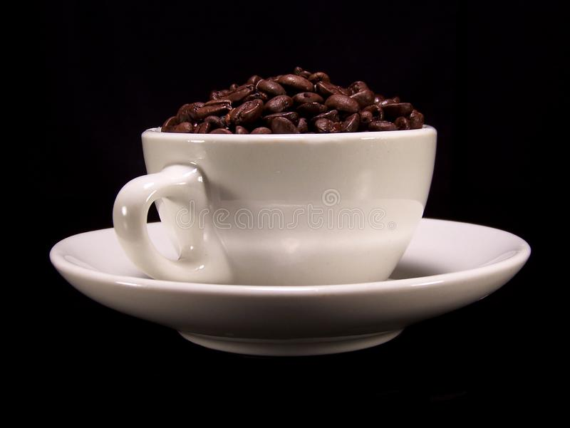 Cup of coffee beans 2 royalty free stock photo