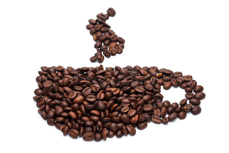 Download Cup of coffee beans. stock image. Image of symbol, caffeine - 24893207