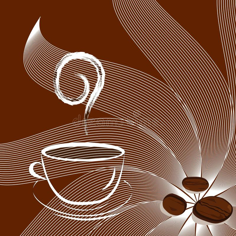 Download Cup Of Coffee With Beans And Sunshine. Stock Vector - Illustration of morning, cappuccino: 10603827