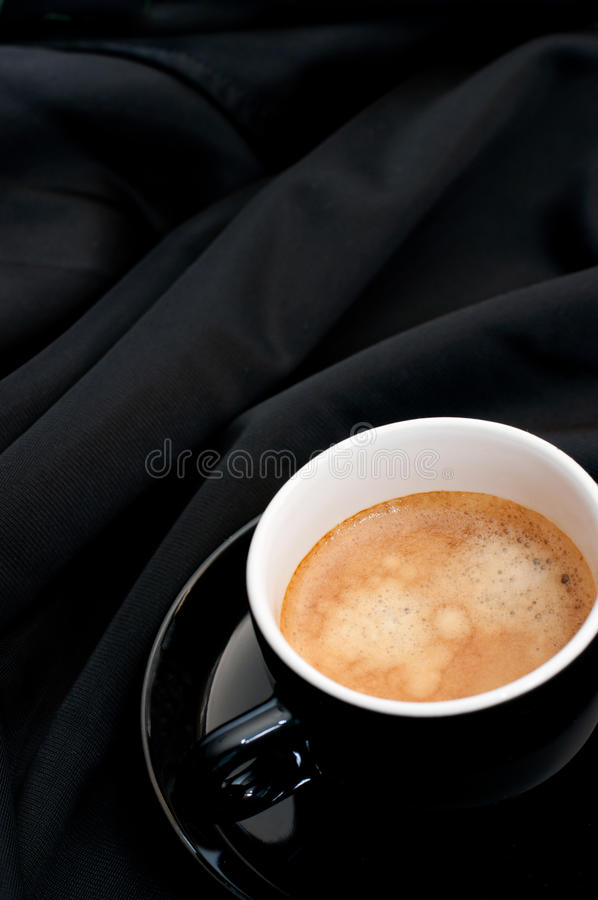 Download Cup Of Coffee On Black Drapery Stock Photo - Image: 20338812