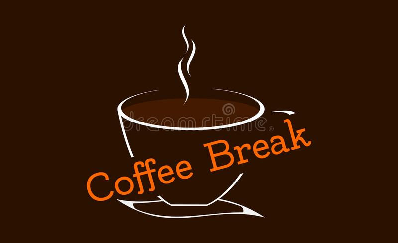 A cup of coffee - coffee break for relax vector illustration