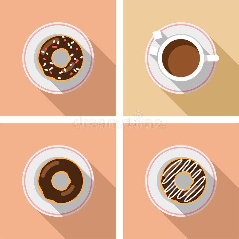 Download Cup Of Coffee With Cakes - Vector Graphics Stock Vector - Illustration of object, fast: 39514524