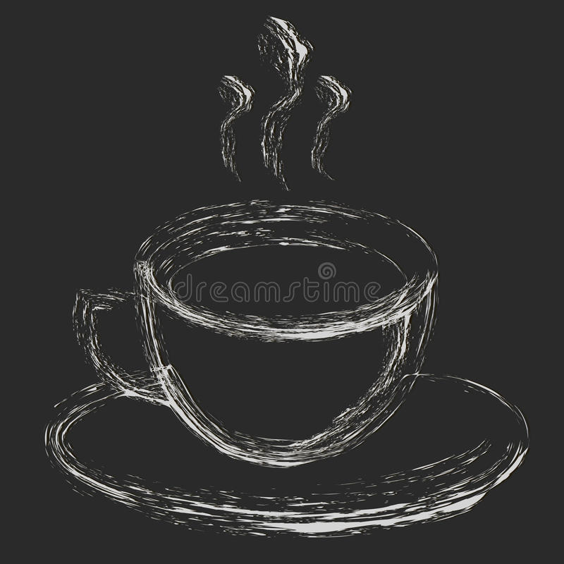 Coffee Mug Drawing Hand Drawn