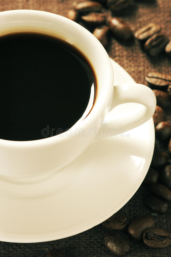 Cup Of Coffee Close-up Stock Photos