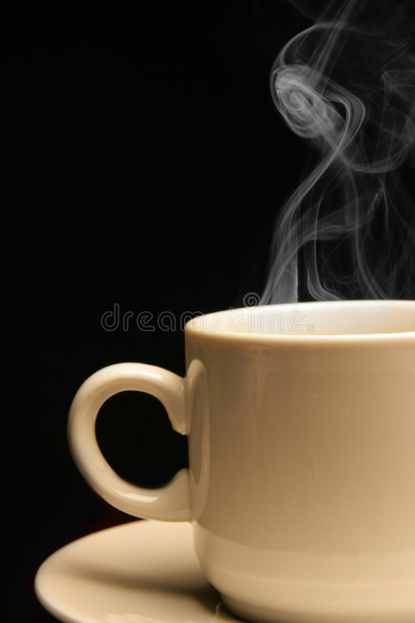 Cup of coffee close-up royalty free stock photos