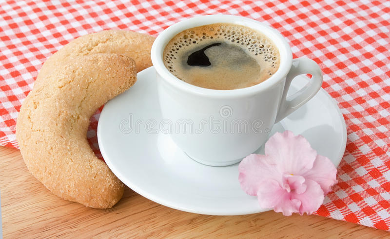 Download Cup of coffee on a cloth stock image. Image of breakfast - 19124589