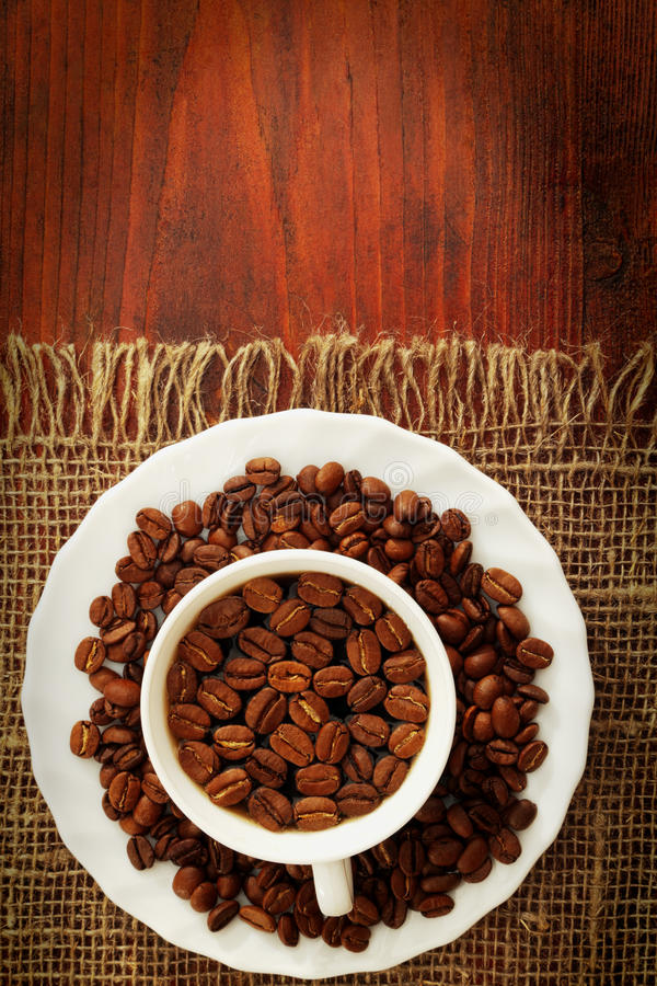 Download Cup Of Coffee With Coffee Beans Stock Image - Image: 23154751