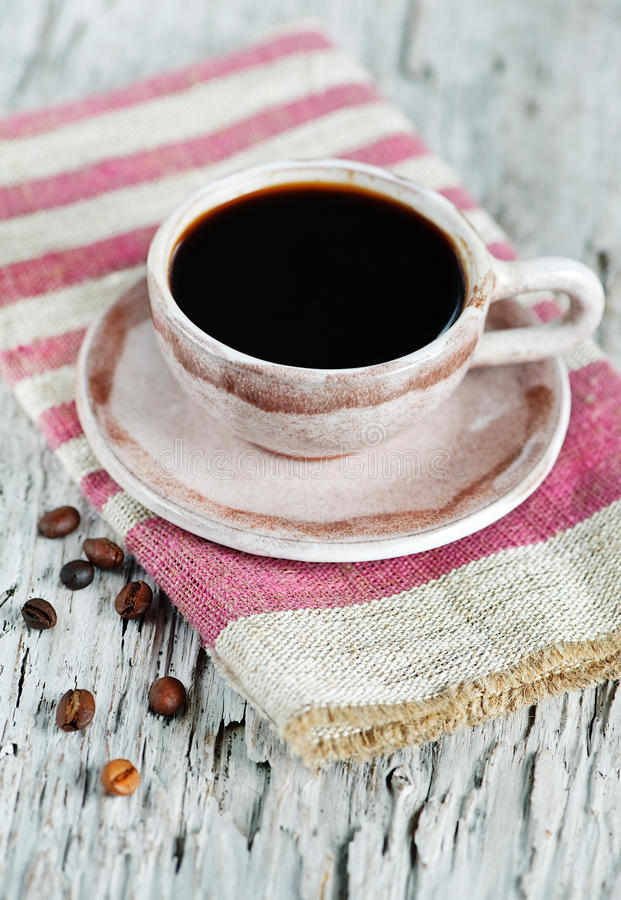 Download Cup Of Coffee And Coffee Beans Stock Image - Image: 26875981