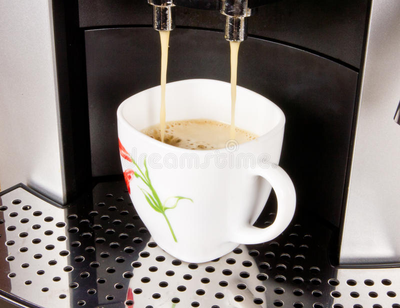 Download A Cup Of Coffee And Coffee Machine Stock Image - Image: 27663683