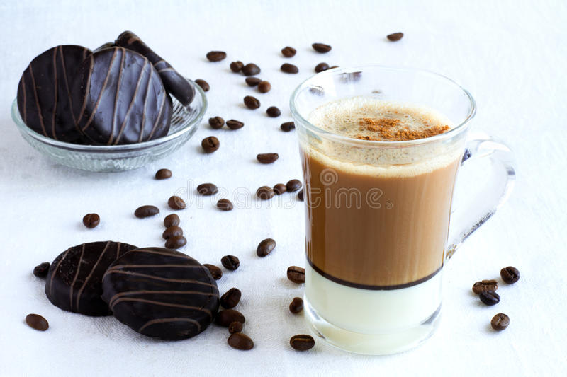Download Cup of coffee and cookies stock image. Image of beverage - 23551647