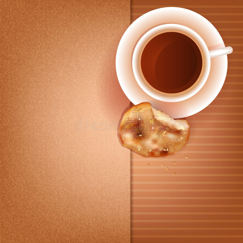 Download Cup of coffee and cookies stock vector. Image of fresh - 35559662