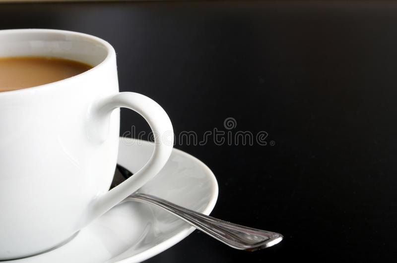 Cup Of Coffee And Copyspace Royalty Free Stock Photography