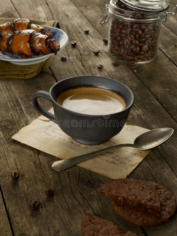 A nice cup of coffee royalty free stock photo