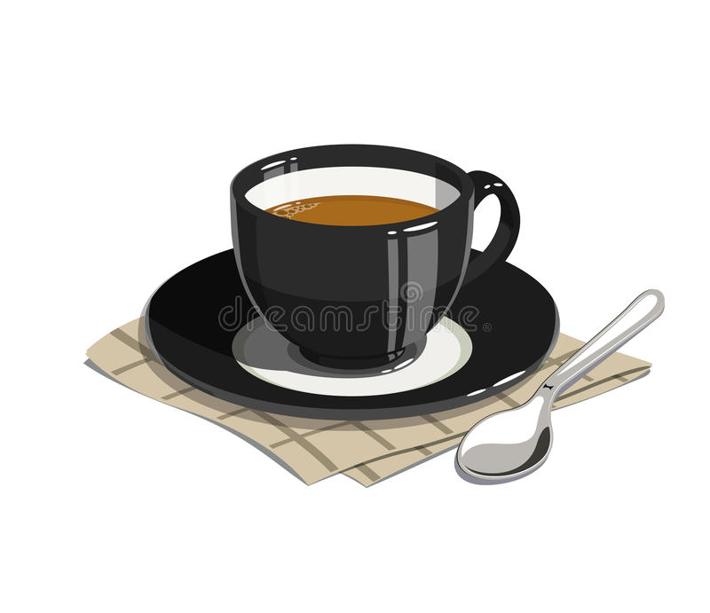 Cup of coffee. stock illustration