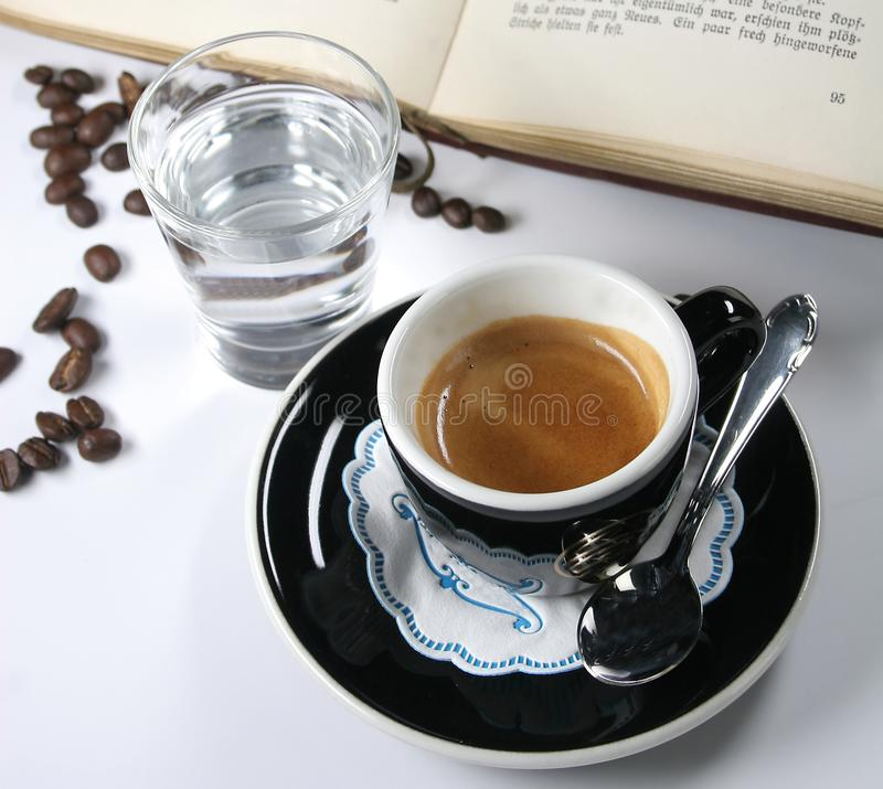 Cup of coffee from the express royalty free stock photography