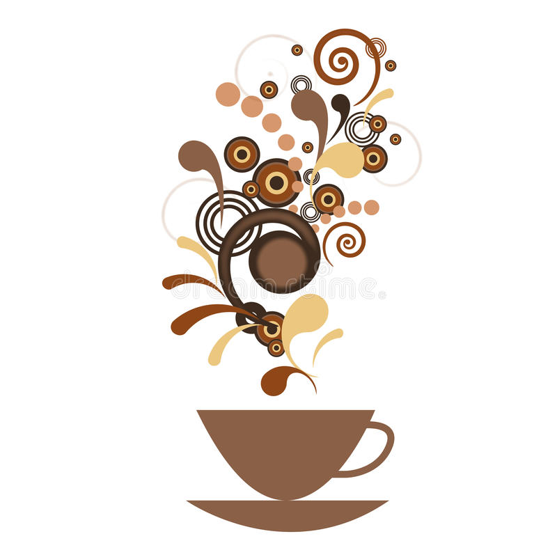 Download A Cup Of Coffee With Flavor Stock Illustration - Image: 34317557