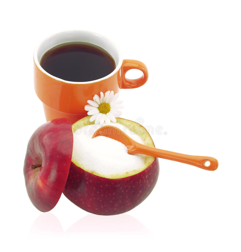 Cup Of Coffee With Fructose Stock Image