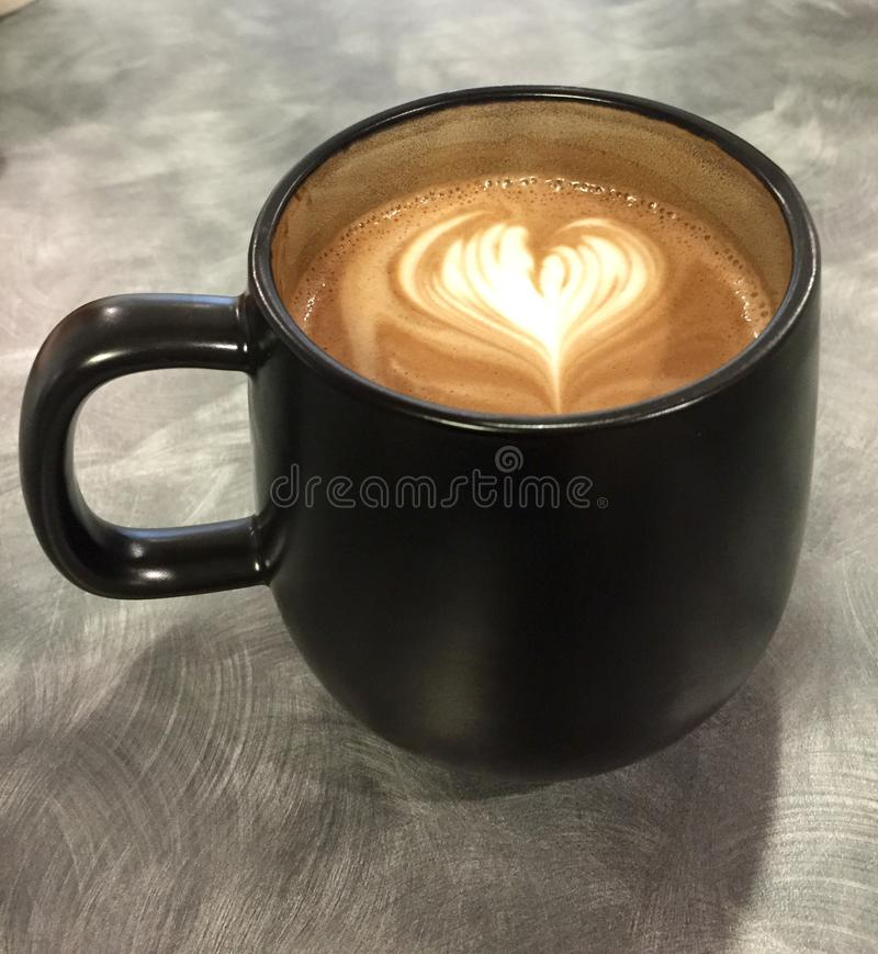 Cup of Coffee with a Heart stock image