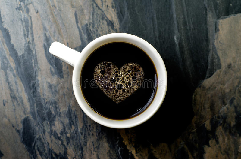 Cup Coffee With Heart Symbol Stock Image Image Of Coffee Currency