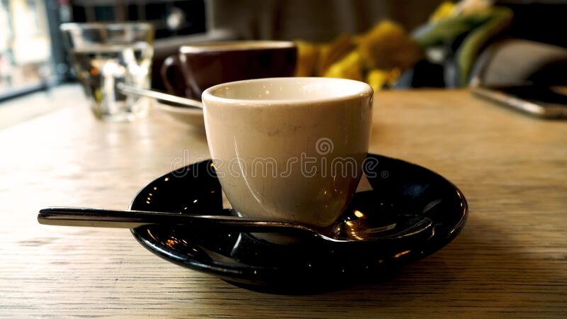 Cup of coffee in the coffee house. Best coffee in the house royalty free stock images