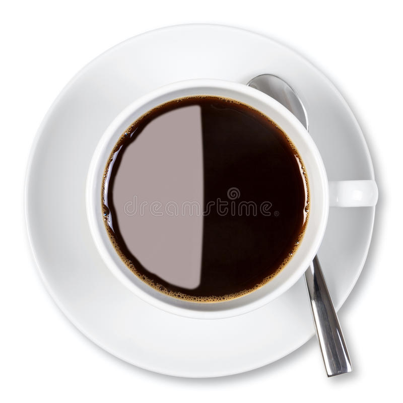 Download Cup Of Coffee Isolated Clipping Path. Stock Image - Image: 24414205