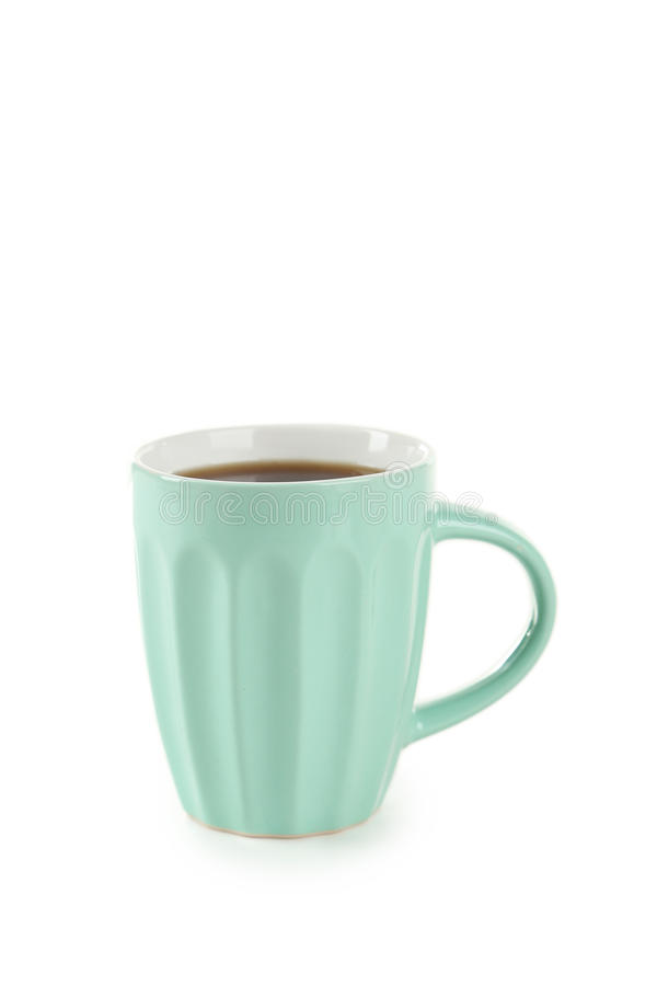 Cup of coffee isolated on white background stock image