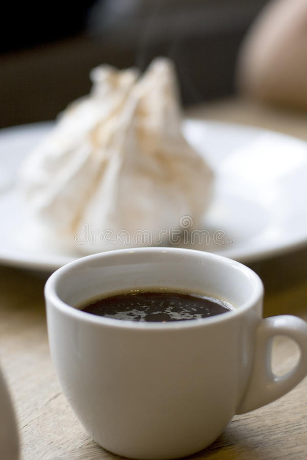 Download Cup of coffee and meringue stock image. Image of candy - 11968247
