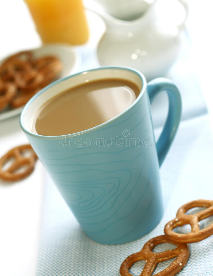 Download Cup Of Coffee With Milk And Cookies Royalty Free Stock Photo - Image: 23328395