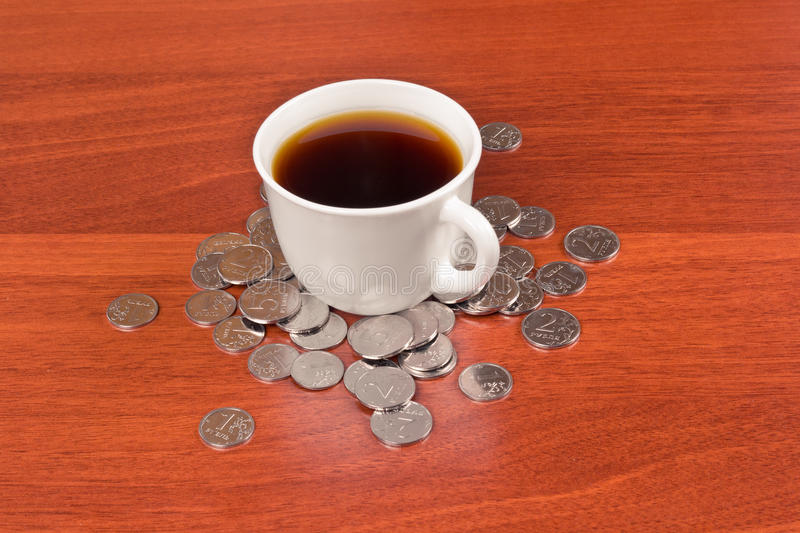 Cup Of Coffee And Napkin Royalty Free Stock Photos