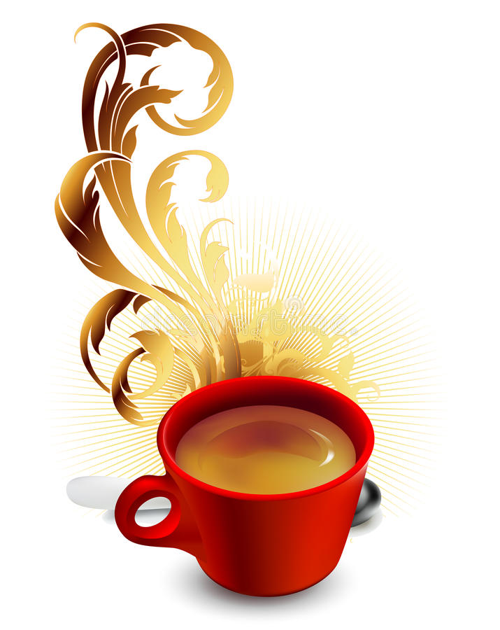 Download Cup Of Coffee With Ornamental Elements Stock Vector - Image: 14850479