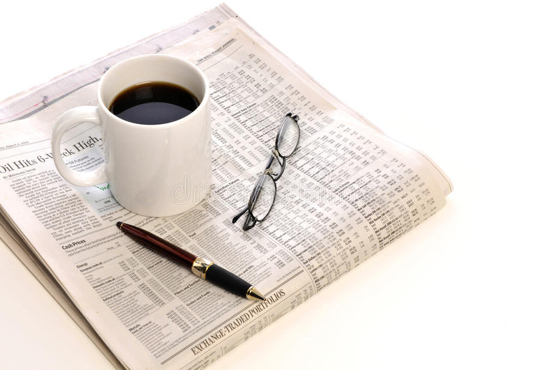 Download Cup of Coffee and paper stock photo. Image of diagram - 15076404