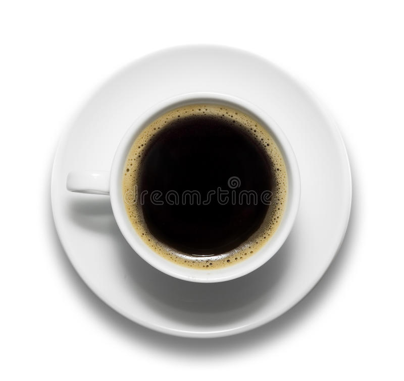 Download Cup of coffee and saucer stock photo. Image of view, round - 16619832