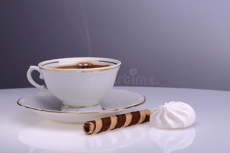 Cup of coffee time royalty free stock photography