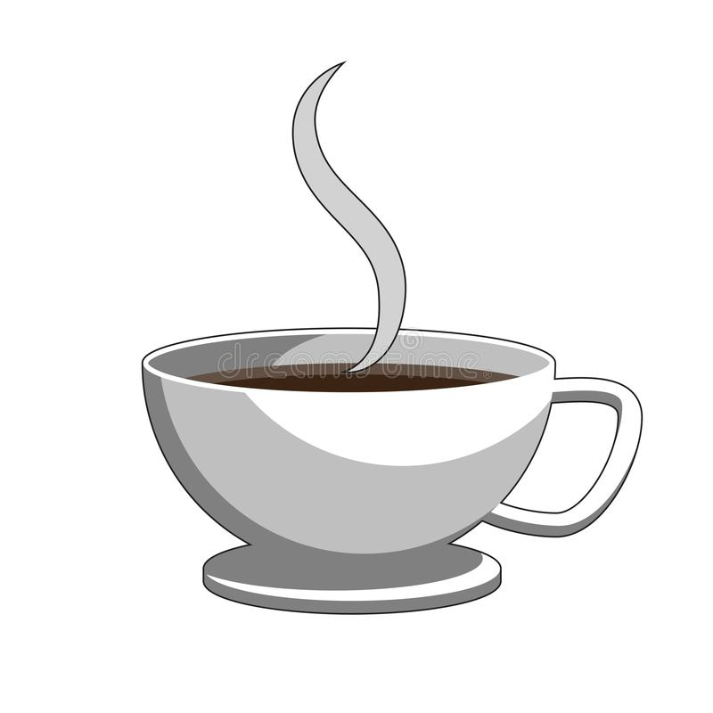 Cup of coffee and steam. Label icon logo design element. Vector image. Cup of coffee and steam. Label icon logo design element. Isolated background. Vector image vector illustration