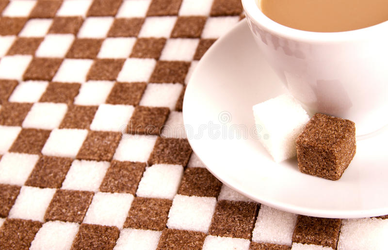 Download Cup of coffee with sugar. stock photo. Image of view - 24063280