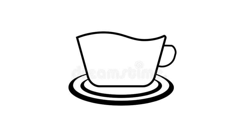 A cup of coffee or tea stock illustration