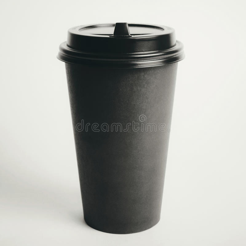Cup of coffee to go royalty free stock photography