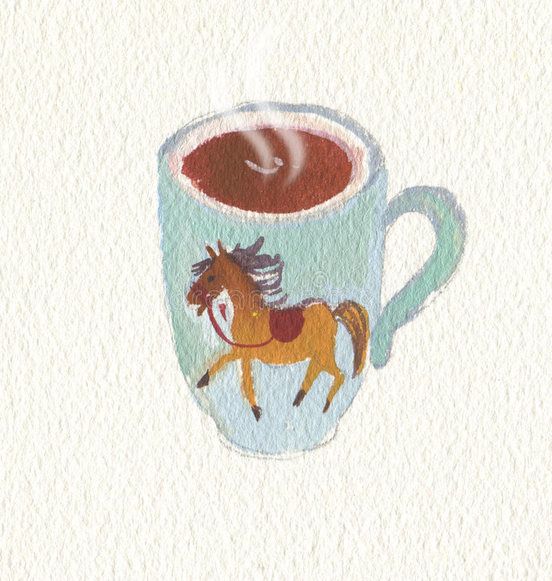 A cup of coffee stock illustration