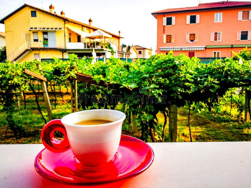 Coffee in Italy horizontal royalty free stock images
