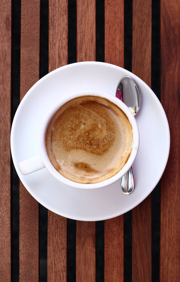 Cup of delicious espresso coffe royalty free stock photography